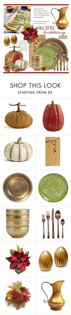 """Fall Entertaining.."" by vkevans ❤ liked on Polyvore featuring interior, interiors, interior design, home, home decor, interior decorating, K&K Interiors, Kim Seybert, Maison Versailles and L'Objet"