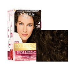 Loreal Paris Excellence Creme Hair Color 4 Natural Dark Brown Triple Care Colour Buy Online at Best Price in India: BigChemist.com