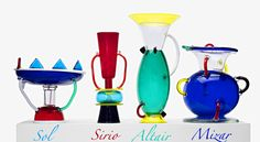 Memphis glass by Sottsass from 1982.