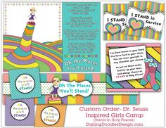 Dr. Seuss Inspired Girl's Camp theme - Oh the places you stand!