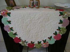 toalha de mesa em patchwork redonda - Pesquisa Google