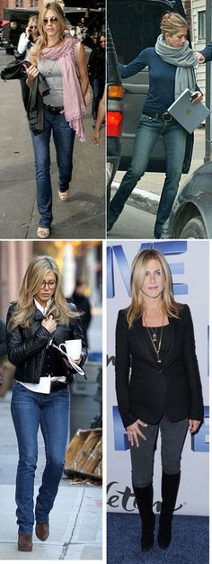 Jennifer Aniston has a relaxed style and often wears jeans