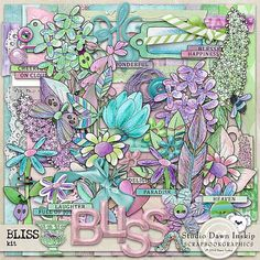Bliss Kit by Dawn Inskip  http://shop.scrapbookgraphics.com/Bliss-Collection.html