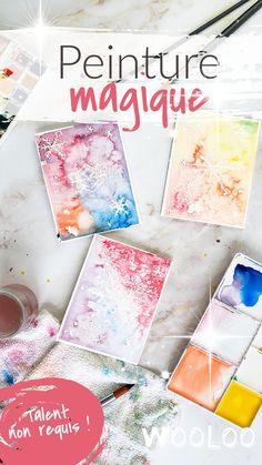 Voici comment faire de la peinture magique avec du sel et un crayon de cire. Même pas besoin de talent en peinture ou en dessin. Le résultat est toujours WOW #diy Peaceful Parenting, Voici, Activities For Kids, Scrapbooking, How To Make Paint, Fun Diy Crafts, Wax Crayons, Pretty Cards, Bricolage Noel