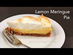 How to make South-African style Lemon Meringue Pie Biscuit Mix, Digestive Biscuits, Lemon Meringue Pie, No Bake Cheesecake, Vanilla Essence, African Style, Melted Butter, Pie Dish, Deserts