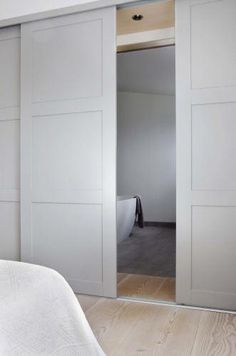 built in wardrobe doors for small room Sliding Wardrobe Doors, Ikea Sliding Wardrobes, Modern Closet Doors, Modern Sliding Doors, Fitted Wardrobes, Bedroom Wardrobe, Bedroom Doors, Internal Doors, Cavity Sliding Doors