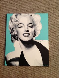 16 by 20 inch original acrylic Marilyn Monroe painting  on Etsy, $155.00