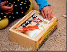 Wooden 12 piece puzzles {32 months}