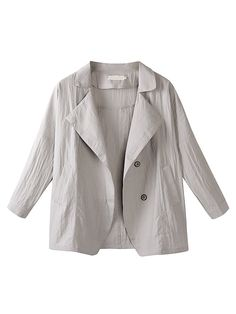 Specification:  Style:Casual Collar:Lapel Color:Beige Pattern:Pure Color Sleeve Length:Long Sleeve Season:Spring,Fall,Winter    Package included:  1*Coat