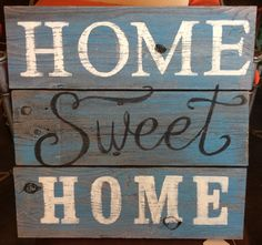 Rustic wood hand painted sign by kathrynmak on Etsy