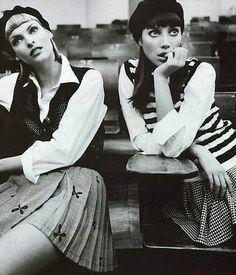 Linda Evangelista & Christy Turlington (Photography by Steven Meisel)   1994