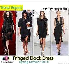 Fringed Black #Dress FashionTrend for #SpringSummer2014  #fashion #trends #spring2014 #fringe #lbd #ss2013