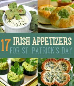 Green St. Patrick's Day Appetizer Party Ideas   www.diyprojects.com/17-delicious-irish-appetizers-for-st-patricks-day/
