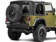 Rock Hard 4X4 Straight Across the Rear Upper Bar 87-91 Jeep Wrangler YJ
