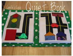 Every boy needs a road page! The red, yellow and green light pieces have velcro and the car parks in the red garage