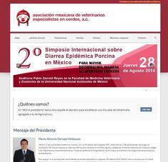 Sitio web para Asociacion mexicana de veterinarios especialistas en cerdos - www.amvec.com