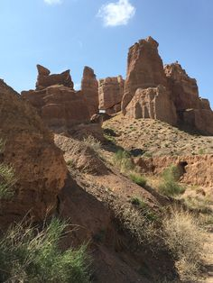 Charyn Canyon Kazakhstan, Monument Valley, National Parks, River, Nature, Naturaleza, Nature Illustration, Outdoors, Rivers
