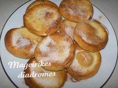 Τηγανίτες Greek Desserts, Greek Recipes, Recipe Images, Doughnut, Muffin, Dessert Recipes, Sweets, Bread, Breakfast