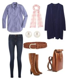Girlie Lunch and a spot of Shopping by ramsgate on Polyvore featuring Zucca, J.Crew, J Brand, Jilsen Quality Boots, Chloe Stanyon, Henri Bendel, Suzusan and River Island