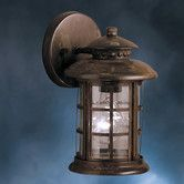 Found it at Wayfair - Rustic Outdoor Wall Lantern- possible outdoor