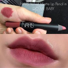 Nars Velvet Matte Lip Pencil 'Do Me Baby'✨Fenomen olacak renklerden bi. Makeup Goals, Makeup Inspo, Makeup Inspiration, Makeup Ideas, Nars Velvet Matte, Matte Lips, Pink Lips, Batons Matte, Beauty Make-up