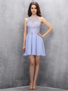 Stunning Jewel Open Back Short Lavender Homecoming Dress with Appliques Beading