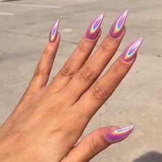 How to choose your fake nails? - My Nails Aycrlic Nails, Hair And Nails, Dnd Gel Polish, Nail Design Spring, Lavender Nails, Stiletto Nail Art, Fire Nails, Best Acrylic Nails, Chrome Nails