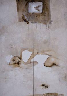 Viktor Sheleg - A Dream canvas/mixed technique 200x120cm 2007