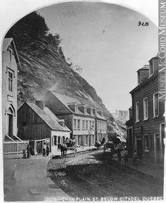 Rue Champlain en dessous de la Citadelle, Québec, QC, 1865