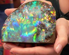 The Galaxy Opal is (according to Guinness in 1992) the world's largest polished opal.  It was found in Brazil in 1976.
