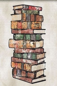 Stack of Books Watercolor Temporary Tattoo by Atattood on Etsy… Stack Of Books, I Love Books, Good Books, Books To Read, My Books, Pile Of Books, Reading Quotes, Book Quotes, Reading Books