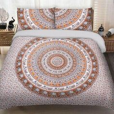 Find many great new & used options and get the best deals for Indian Brown Elephant Peacock Mandala King Size Bedding Duvet Doona Cover Set at the best online prices at eBay! Free shipping for many products! Mandala Comforter, Mandala Duvet Cover, Duvet Bedding, Comforter Cover, Bedspread, Bed Sizes, Blanket Cover, Quilt Cover
