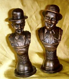 BUY: Laurel and Hardy Bronze Boiler Suits busts