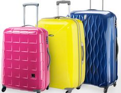If I were in the market for some luggage! I pinned this from the Pack & Go Collection - Colorful Luggage Sets, Spinners & More event at Joss and Main! #jossandmain