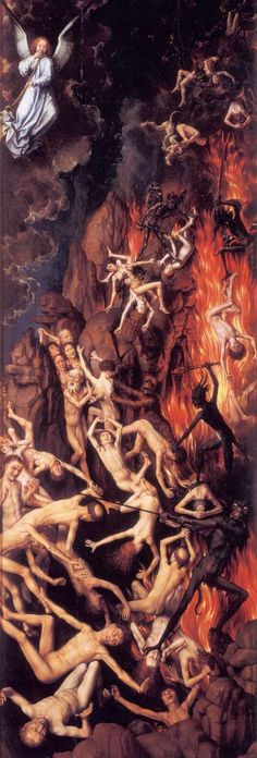 Hans Memling Last Judgment, , Muzeum Narodowe, Gdansk. Read more about the symbolism and interpretation of Last Judgment by Hans Memling. Jan Van Eyck, Hieronymus Bosch, Medieval Art, Renaissance Art, Hans Memling, Heaven And Hell, Arte Horror, Angels And Demons, Religious Art