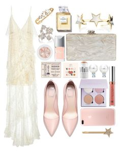 """thank you academy"" by anniemccurdy ❤ liked on Polyvore featuring Alice + Olivia, MILK MAKEUP, Edie Parker, Anastasia Beverly Hills, FOSSIL, Givenchy, Christian Dior, Chanel, Sara Weinstock and Marc Jacobs"