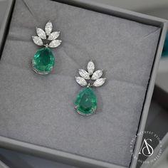 sliver swaroski Earrings/ping us 63821 id: theamethyststore. Jewelry Design Earrings, Gold Earrings Designs, Tiny Earrings, Emerald Earrings, Emerald Jewelry, Ear Jewelry, Diamond Jewelry, Golden Jewelry, Silver Jewelry