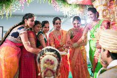 10632749_1050214101660429_1369479877084572454_n Telugu Wedding, Indian Wedding Ceremony, India Wedding, Wedding Pics, Saree Wedding, Wedding Trends, South Indian Weddings, South Indian Bride, Indian Bridal Sarees