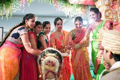 TELUGU Wedding. I remember the married ladies doing this at my wedding!