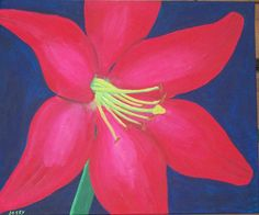 Acrylic Painting- Red Lily. $150.00, via Etsy.