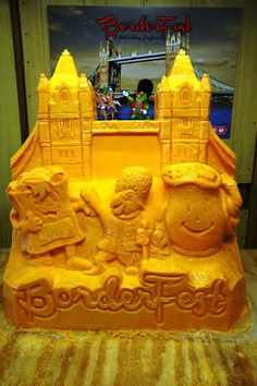 CHEESE sculpture for Borderfest