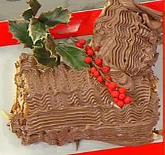 Cuochi per caso...o per forza!!: Tronchetto natalizio con crema gianduia da La Prov...