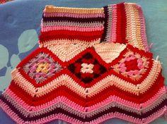 crochelinhasagulhas: kleurrijke gehaakte jasje