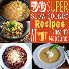 50 Delicious Slow Cooker #Recipes on iheartnaptime.net #crockpot ...great for a cold winter day!