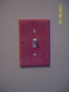Pretty paper mod-podge light switch cover.
