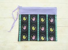 Poppyshome - Meikkipussi lintuset lilaa ja vihreää - Bellapuoti verkkokauppa