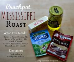 Crockpot Recipe: Mississippi Roast | Living Chic on the Cheap