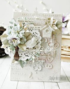 54 Trendy Ideas Baby Cards Hand Made Shabby Chic Wedding Invitations Shabby Chic Karten, Shabby Chic Cards, Envelopes, Shabby Chic Wedding Invitations, Decoupage, Altered Canvas, Altered Art, Beautiful Handmade Cards, Shabby Vintage