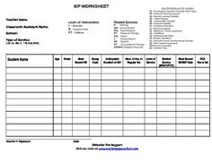 Free! IEP Roster organizer, Quickly type in your special education roster. Includes spots for important dates and services. Fully customizable.