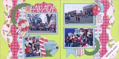 Christmas Parade Layout by Gail Owens.